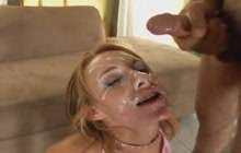 Sierra Sin getting her face covered in sperm